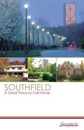 Southfield: A Great Place to Call Home brochure (pdf)