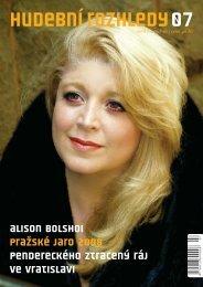Alison Bolshoi Pražské jaro 2008 pendereckého ztracený ... - Scéna.cz
