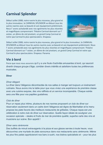 Carnival Splendor - Net-Tours GmbH