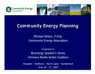 Community Energy Planning - The Omineca Beetle Action Coalition