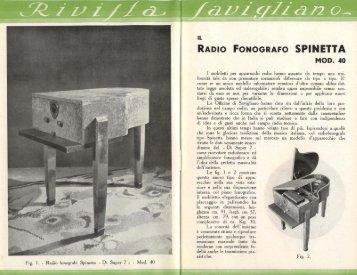 RADIO FONOGRAFO SPINETTA - AIRE