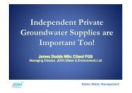 Private water user perspective on the main groundwater ...
