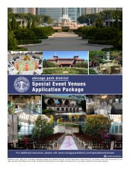 2012-2013 Special Event Venues Application - Chicago Park District