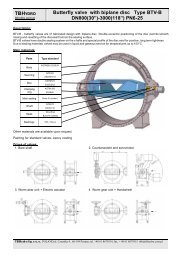 Butterfly valve with biplane disc Type BTV-B DN800(30 ... - TB Hydro