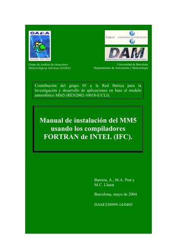Manual de instalación del MM5 usando los ... - Red Ibérica MM5