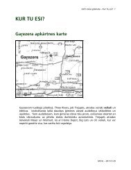Gaŗezera apkārtnes karte - Garezers