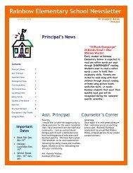 Rainbow Elementary School Newsletter - DeKalb County Schools