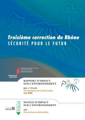 Troisième correction du Rhône - Plusieurs causes sont possibles ...
