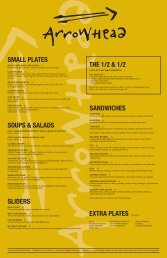 small plates soups & salads sliders sandwiches extra plates the 1/2 ...