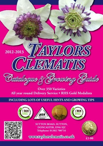 Catalogue Growing Guide - Taylors Clematis