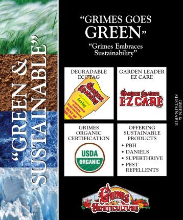 Green & Sustainable - Grimes Horticulture