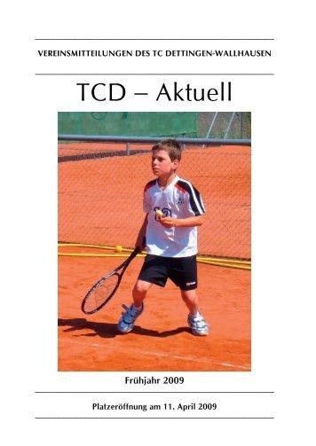 Turnierplan 2009 - TC Dettingen-Wallhausen