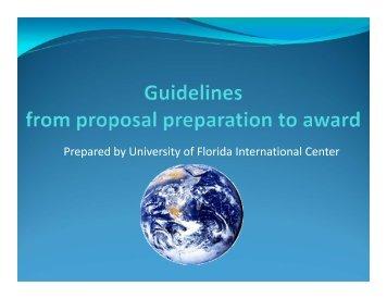 proposal - University of Florida International Center