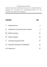 Rede des Bayerischen Staatsministers des Innern, Dr. Günther ...