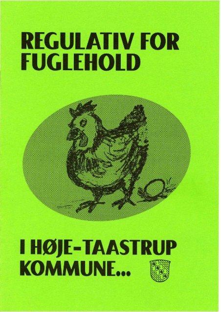 regulativ for hold af fugle - Høje-Taastrup Kommune