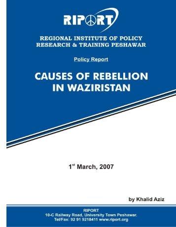 RIPORT-REBELLION IN WAZIRISTAN.pdf - Riport.org