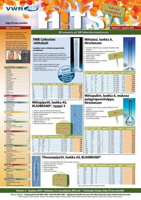 Syksyn tarjoukset - VWR-International GmbH