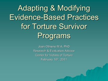 PowerPoint Adapting & Modifying Evidence-Based ... - HealTorture.org