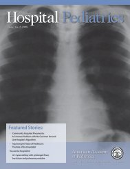 Hospital Pediatrics-Issue 2 2008 - American Academy of Pediatrics