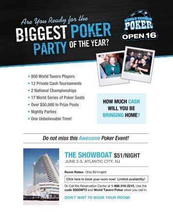 World Tavern Poker OPEN