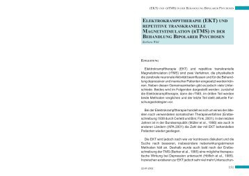 ELEKTROKRAMPFTHERAPIE (EKT) UND REPETITIVE ...