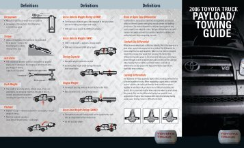 PAYLOAD/ TOWING - Toyota Canada