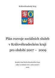 Plán rozvoje sociálních služeb v Královéhradeckém kraji pro období ...
