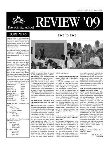 1st April 2009 - The Scindia School