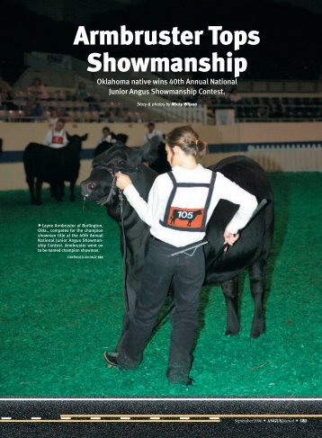 Armbruster Tops Showmanship - Angus Journal
