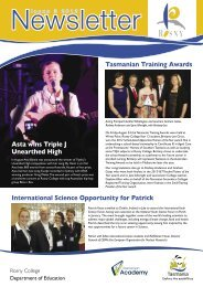 Newsletter Issue 3 2012.pdf - Department of Education Schools ...