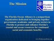 Kirkpatrick, Gary: Florida Ocean Alliance (FOA) - College of Marine ...