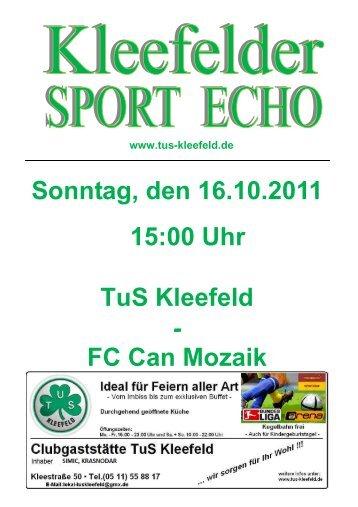FC Can Mozaik - TuS Kleefeld Hannover e.V.
