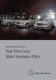 Your First Cover Motor Insurance Policy - Mercedes-Benz UK