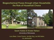 Biogeochemical Fluxes through Urban Households - Water ...