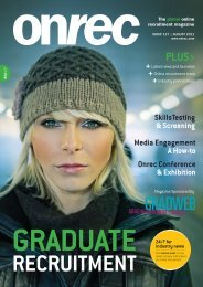 Onrec Magazine - Issue 127 - August 2011 - Online Recruitment ...