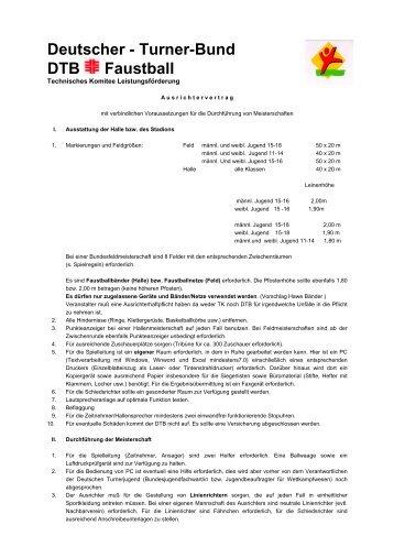 Deutscher - Turner-Bund DTB Faustball