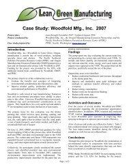 Case Study: Woodfold Mfg., Inc. - PPRC
