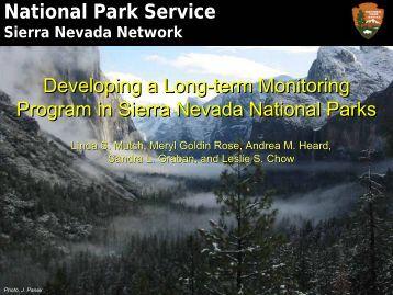 developing a long-term monitoring program in sierra nevada ...
