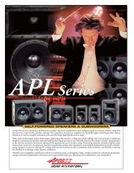 Apogee APL Self-Powered Series Brochure - Welcome to Apogee ...
