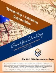 Sponsorship & Exhibiting Opportunities - Iwla.com