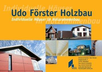 Broschüre als PDF - Udo Förster Holzbau