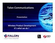 Talon Q1 2012 - Talon Communications