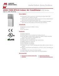 4000-7000 BTU/H Indoor Air Conditioner (DTS Series) - Hammond ...