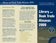 Library and Book Trade Almanac 2009 - Books - Information Today