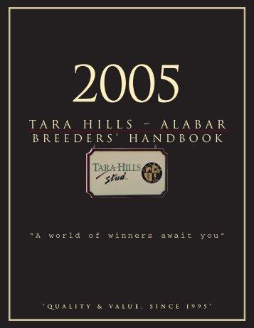 FEE $3500 CDN. - Tara Hills Stud