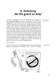 "A. Einleitung ""No life guard on duty"""