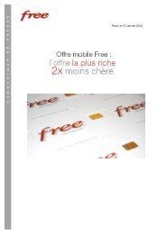 Offre mobile Free - Iliad