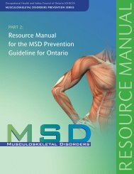 Resource Manual for MSD Prevention Guideline - Infrastructure ...