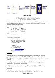 A N N O U N C E M E N T 2005 Symposium for Coaches and Chief ...