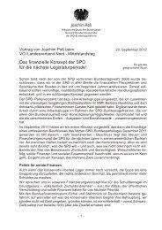 """""""Das finanzielle Konzept der SPD für die nächste ... - Joachim Poß"""
